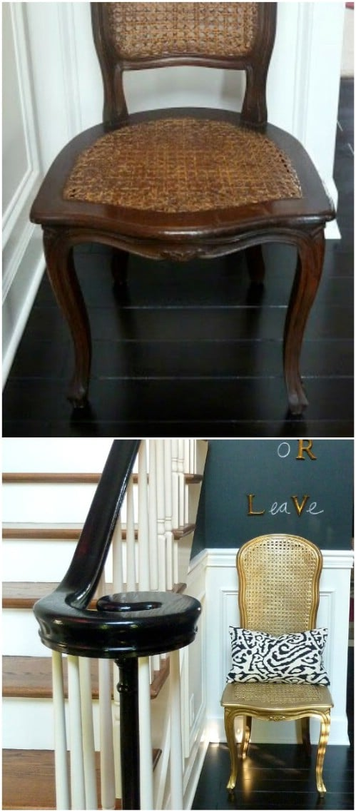 Stunning Gold Wicker Chair
