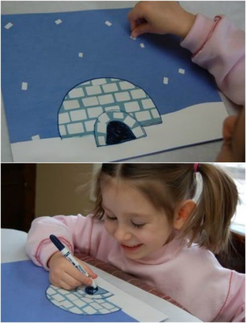 Mosaic Igloo Craft