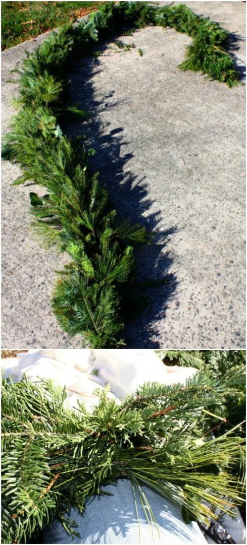Handmade Evergreen Garland