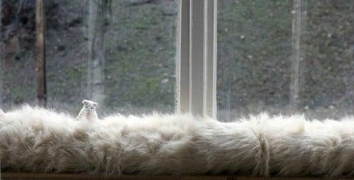 No Sew DIY Faux Fur Draft Blocker