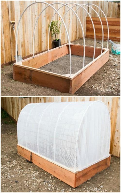 DIY Covered Wagon Hinged Greenhouse