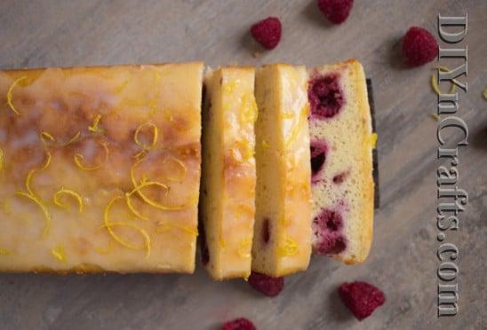 Finished Lemon Raspberry Loaf