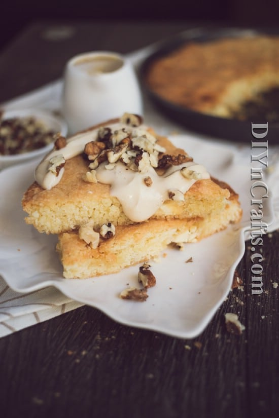 Top with maple cream and chopped walnuts for an out of this world flavor