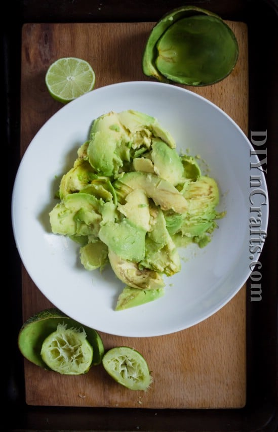 Mash avocado with a fork or potato masher for great consistency