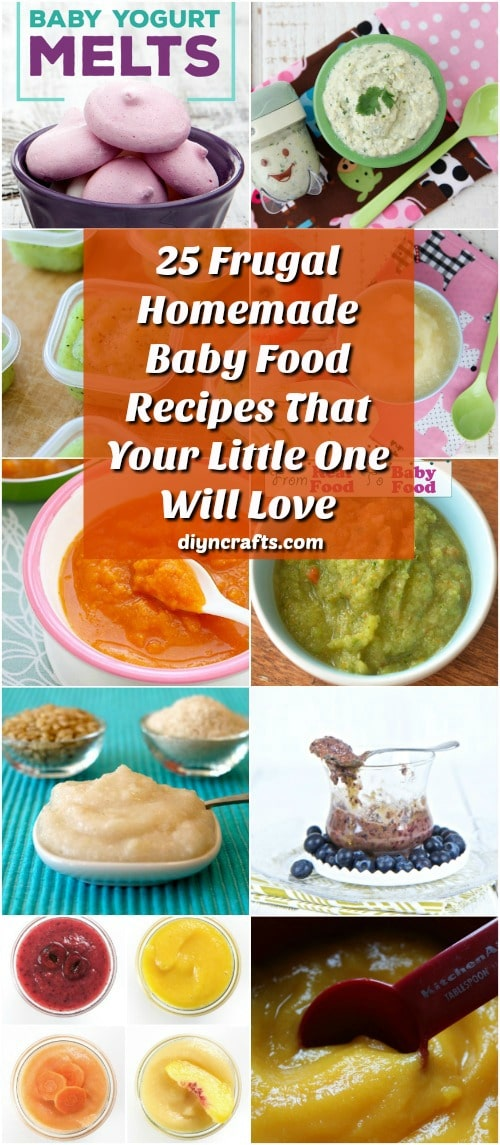 25 Frugal Homemade Baby Food Recipes That Your Little One ...