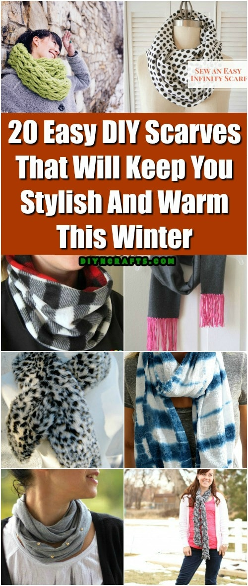 20 Easy DIY Scarves That Will Keep You Stylish And Warm This Winter ...