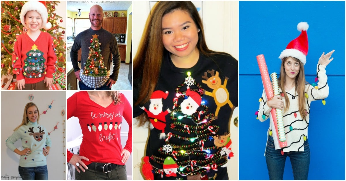 15 fun ugly christmas sweaters you can easily diy diy crafts solutioingenieria Choice Image