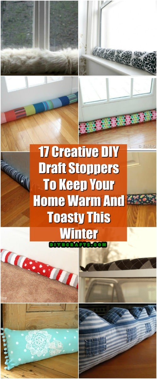 Living Room Decor Trends 2018: 17 Creative DIY Draft Stoppers To Keep Your Home Warm And