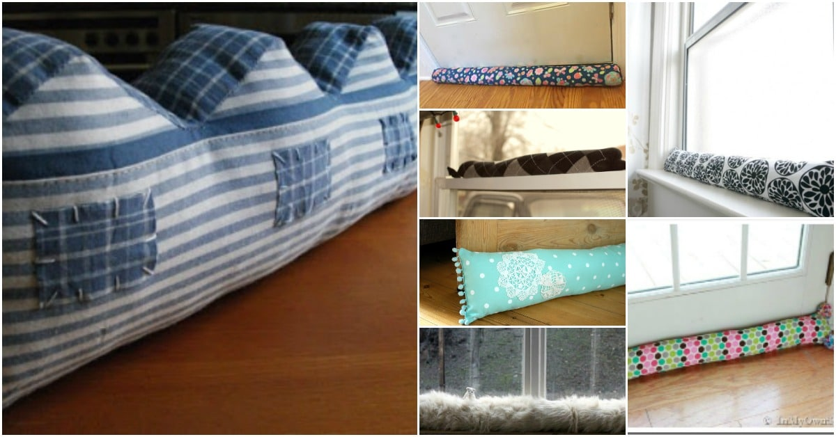 17 Creative Diy Draft Stoppers To Keep Your Home Warm And