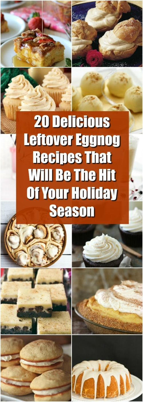 20 Delicious Leftover Eggnog Recipes That Will Be The Hit Of Your Holiday Season #christmasrecipes #recipes #eggnog #desserts #cakes