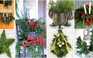20 Creative Ways To Use Fresh Evergreen In Your Christmas Decorating