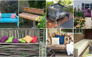 18 Decorative DIY Garden Benches That Add Warmth And Comfort To Your Outdoors