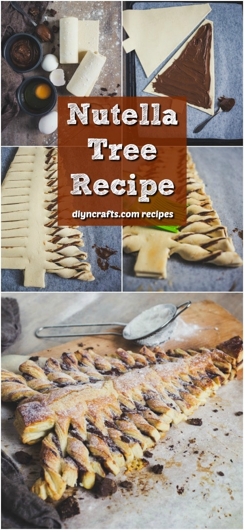 This Yummy Nutella Tree Is The Perfect Holiday Dessert #Christmasrecipe #Nutella #tree #dessert #recipe
