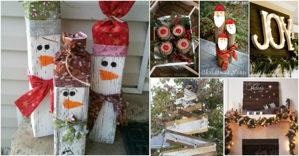 i decided to really go all out with the rustic decorating this year so i started looking for some diy rustic christmas decorations - Diy Wood Christmas Decorations