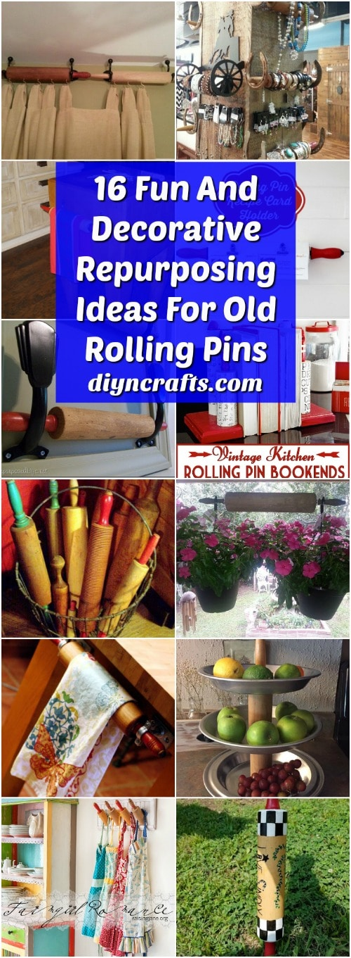 16 Fun And Decorative Repurposing Ideas For Old Rolling Pins