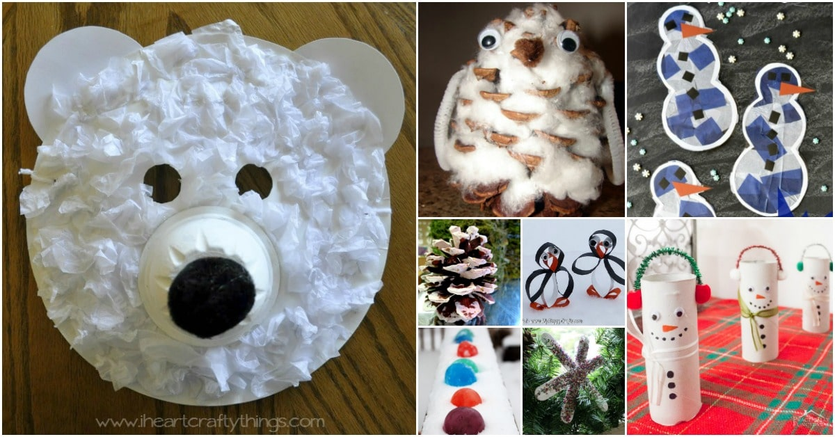 30 fun winter crafts to keep your kids busy indoors when for How to make winter crafts