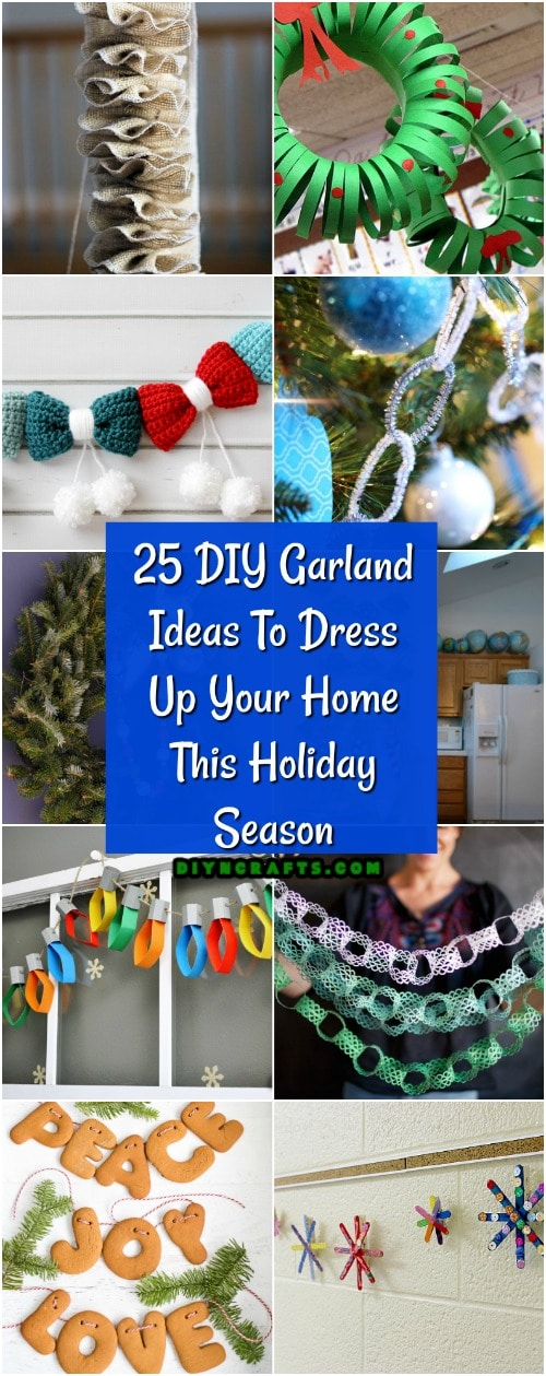 25 DIY Garland Ideas To Dress Up Your Home This Holiday Season