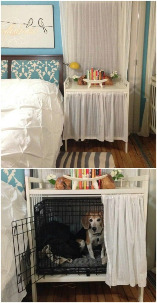 DIY Dog Crate And Bedside Table
