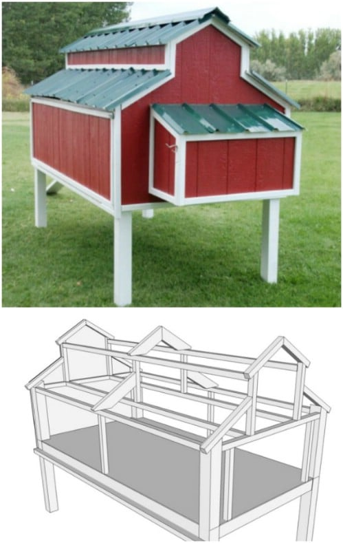 Farmhouse Style Chicken Coop