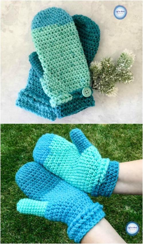 Crochet Frozen Fingers Mittens