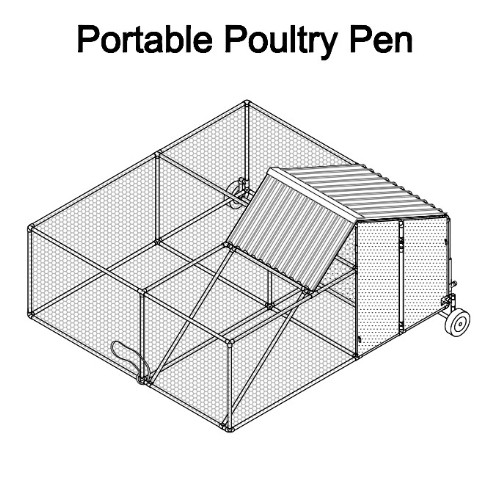 Portable Chicken Pen From PVC