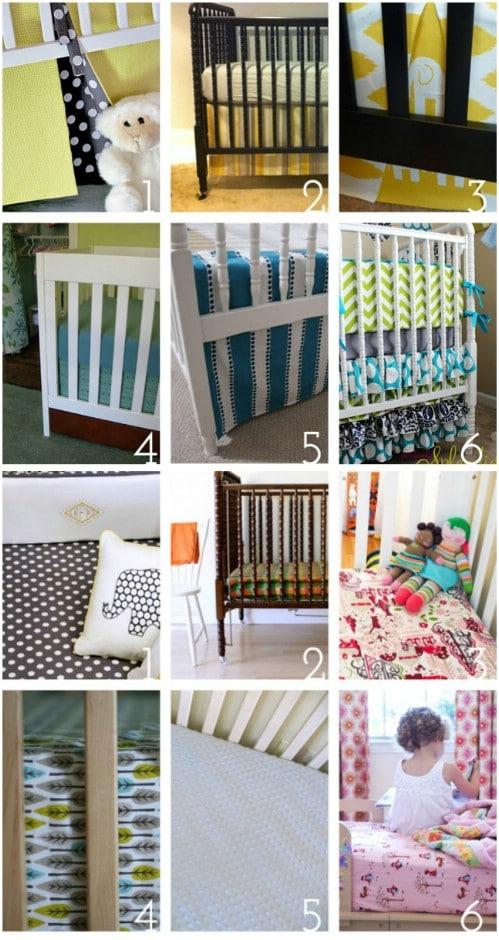 DIY Shabby Chic Ruffled Nursery Bedding