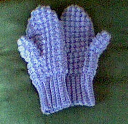 Easy Puff Crochet Mittens