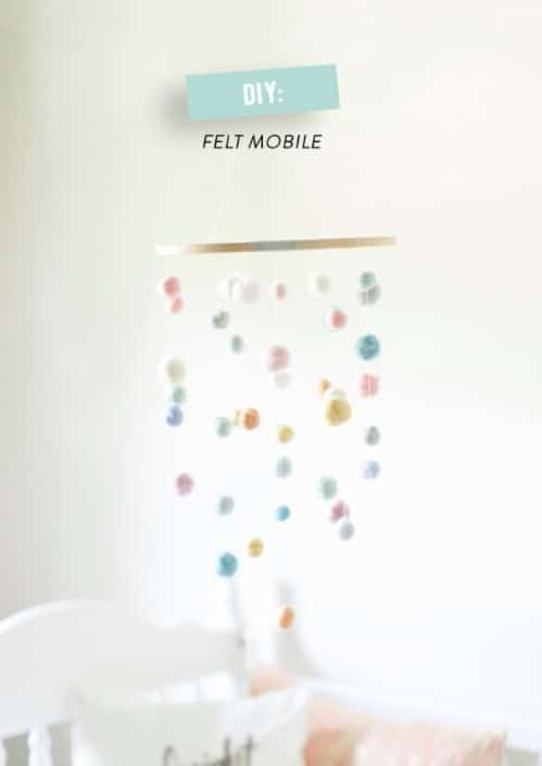 Simple DIY Felted Ball Crib Mobile