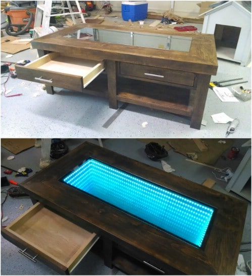 DIY Infinity Table With Storage Drawers