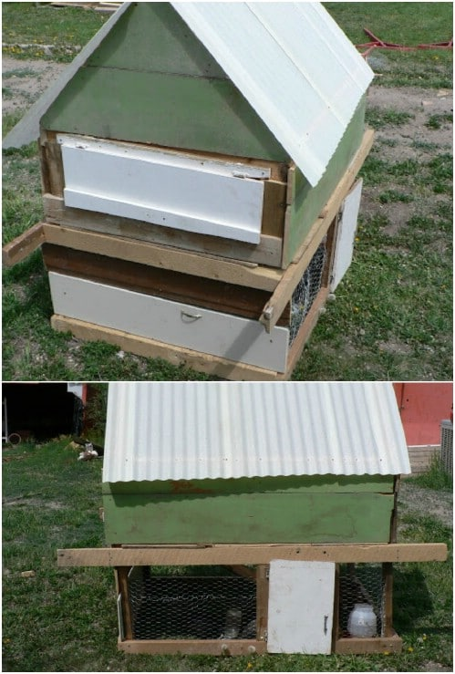 Simple Upcycled Chicken Coop
