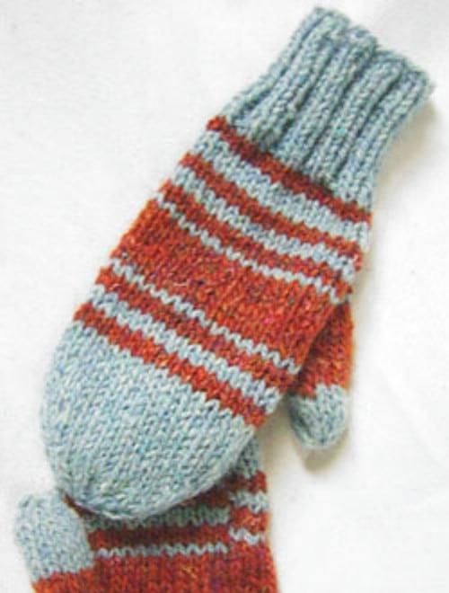 Knit Tweed Look Mittens