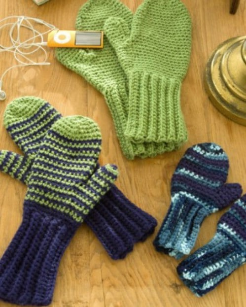 40 Warm And Cozy Mitten Patterns You Can Knit Or Crochet Today DIY Gorgeous Crochet Mitten Pattern