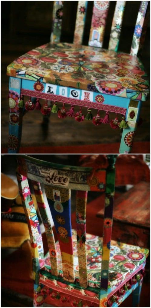 DIY Decoupaged Gypsy Chair