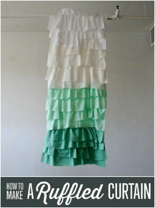 DIY Shabby Chic Ruffled Curtain