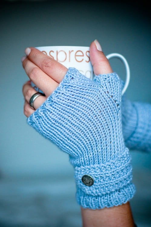 Fable Knit Fingerless Mittens