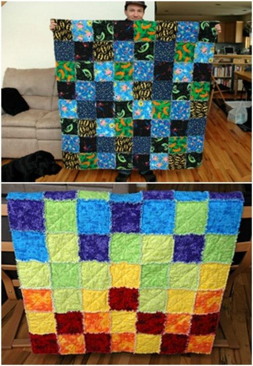 Easy DIY Flannel Rag Quilt