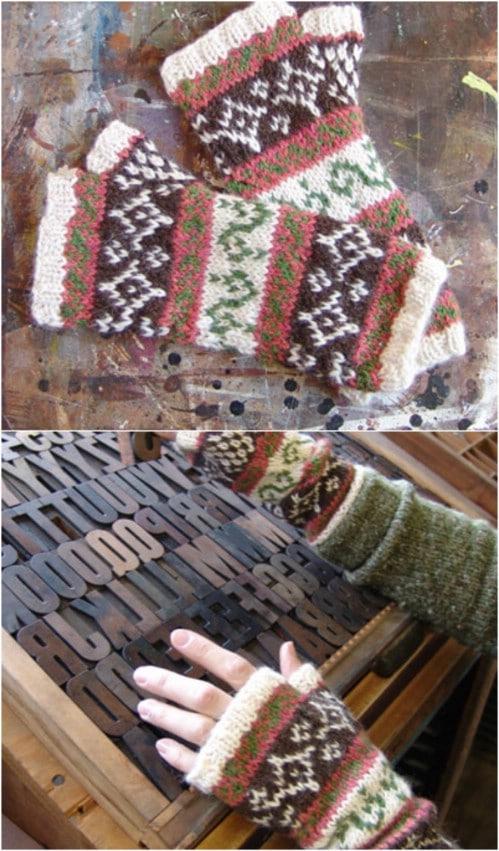 Inca Alpaca Knit Fingerless Gloves