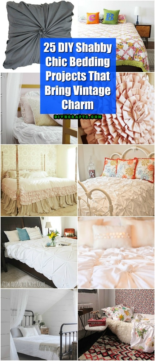 25 DIY Shabby Chic Bedding Projects That Bring Vintage Charm