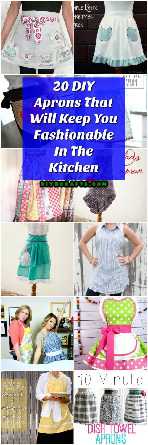20 DIY Aprons That Will Keep You Fashionable In The Kitchen