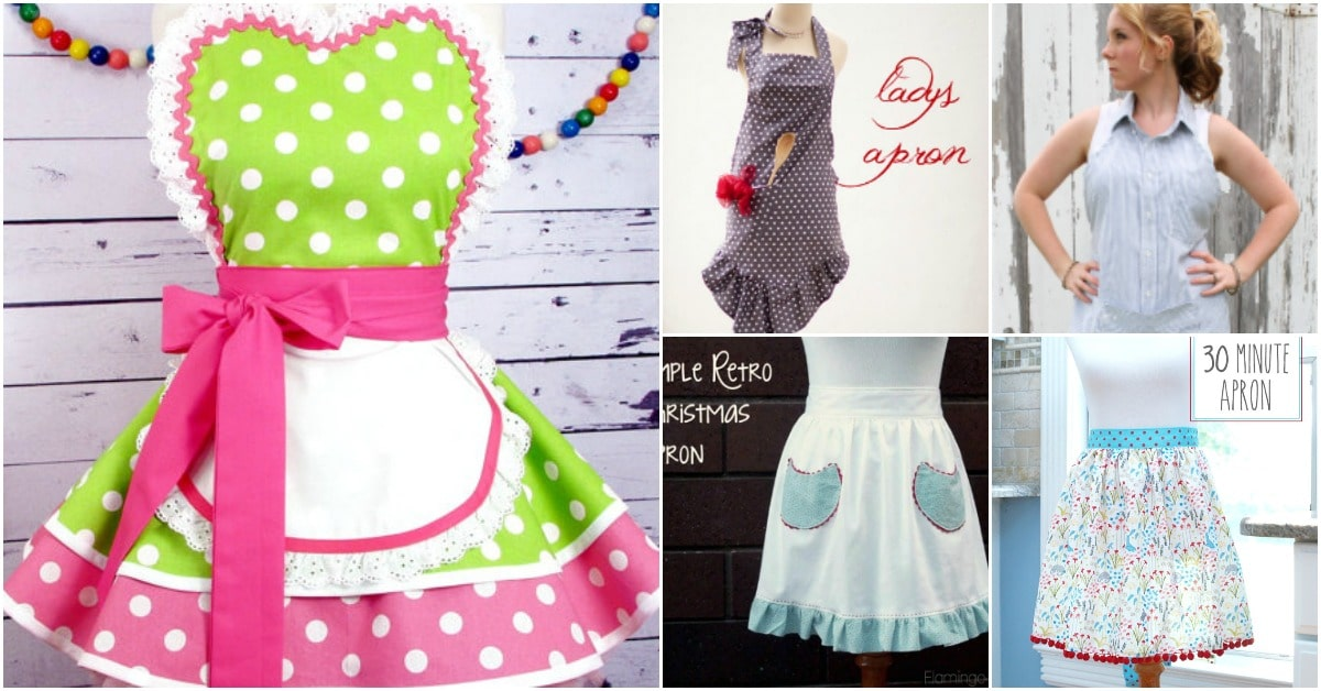 20 DIY Aprons With Free Patterns That Will Keep You Fashionable ...