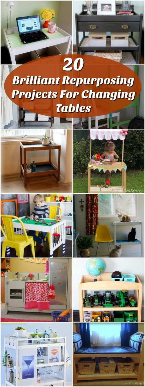 20 Brilliant Repurposing Projects For Changing Tables