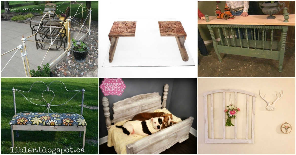 15 Brilliantly Creative Ways To Upcycle An Old Bed Frame - DIY & Crafts