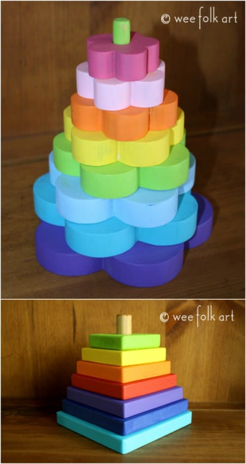 DIY Wood Block Stacker