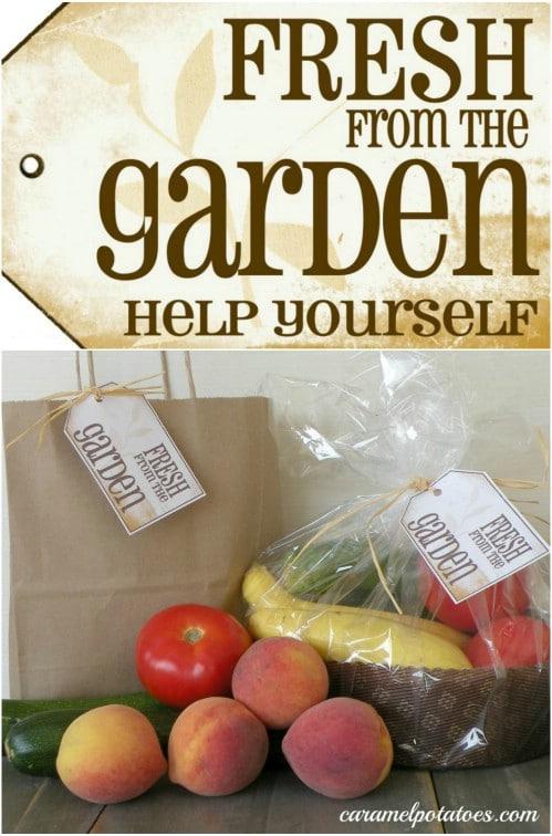 Fresh Garden Gift Tags