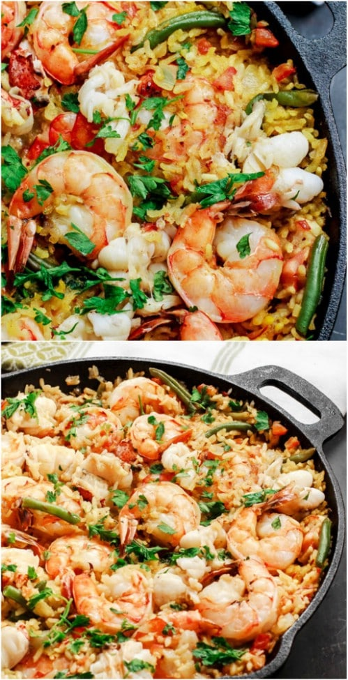 Easy Homemade Seafood Paella