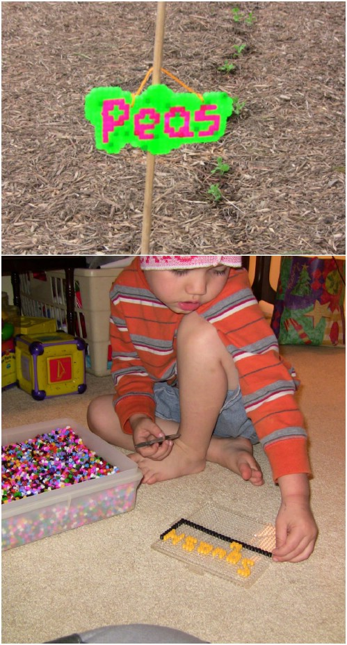 DIY Fuse Bead Plant Markers