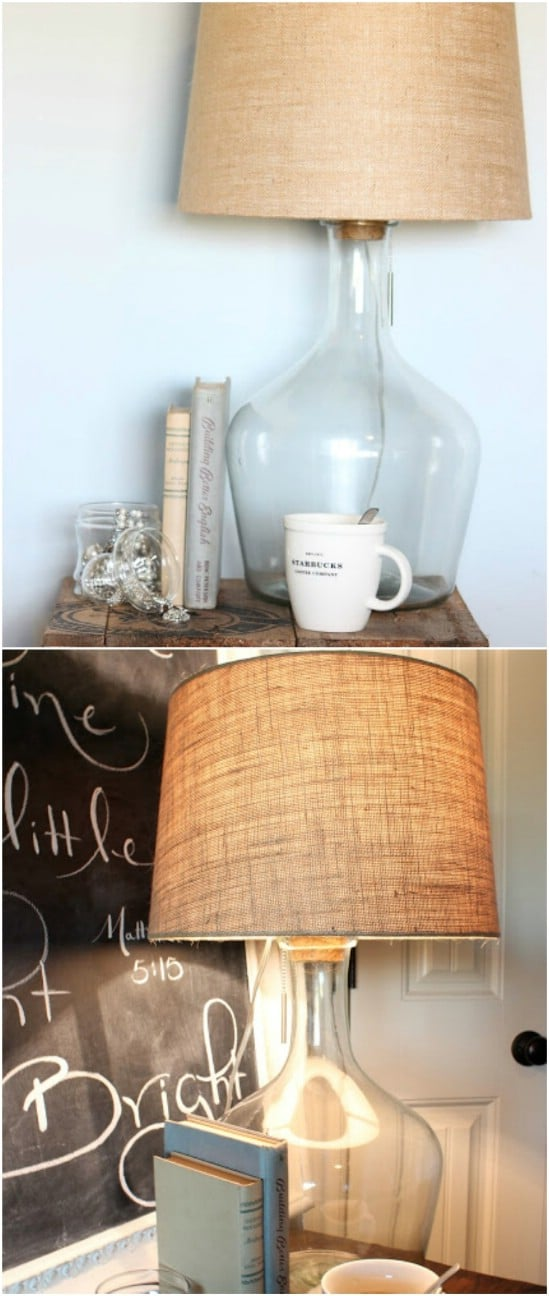 DIY Pottery Barn Glass Bottle Lamp