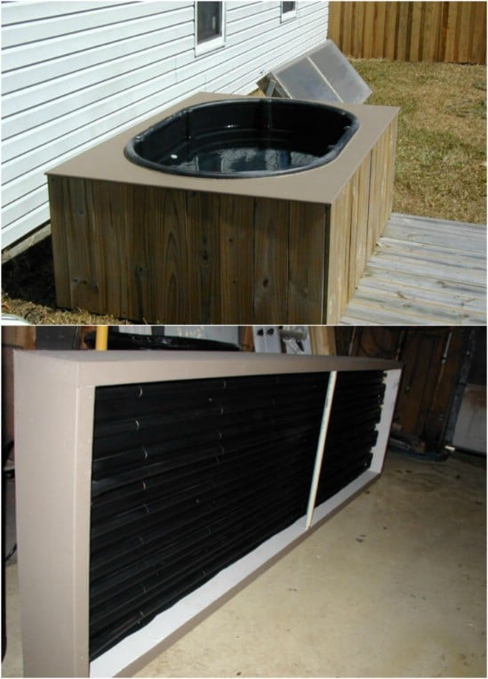 $350 Solar Heated Hot Tub