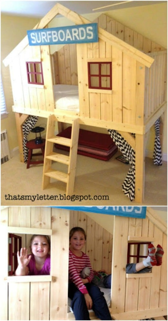 Adorable Clubhouse Fort Bed