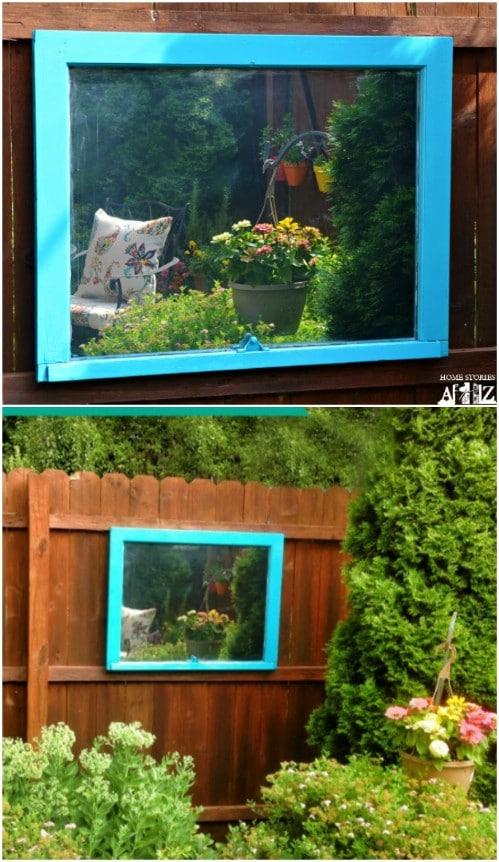 DIY Outdoor Garden Mirror